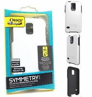 Genuine Otterbox Samsung Galaxy S5 Symmetry Rugged Tough Case Cover White/Grey