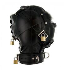 Strict Leather Complete Sensory Deprivation Hood. Adjustable Laces. Lockable S/M