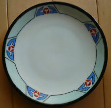 SIGNED ART DECO STYLE PAINTED PLATE 1928 EDITH ROSS, MODERN MODERNIST DESIGN 20s