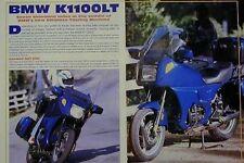 BMW K1100LT Original Motorcycle Article 1992 K1100 LT