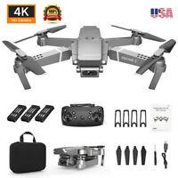 Foldable Drone 4K HD Camera Wide Angle E68 WiFi 1080P FPV Modern Quadcopter NEW