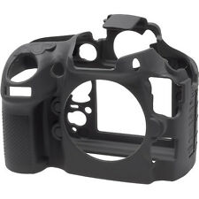 easyCover Silicone Protective Skin - Camera Cover for Nikon D810 Camera (Black)