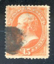 U.S. Stamps, Scott #163, Used, No Grill, XX Cancel, SCV: $150.  [1002M]