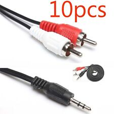 10pcs 3.5mm To 2 RCA Audio Y Adapter Cable/Cord/ For Creative Zen MP3/MP4 Player