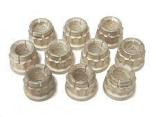 10 3/8 INCH-24 AIRCRAFT EXHAUST LOCKING NUT SILVER PLATED 3/8-24 LOCK NUT
