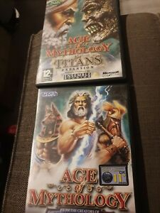 Age of Mythology The Titans Expansion Microsoft PC + Titans Game + Manuals Retro