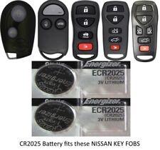 2 Pk Fits NISSAN Remote Key Fob Keyfob Energizer CR2025 Lithium Battery