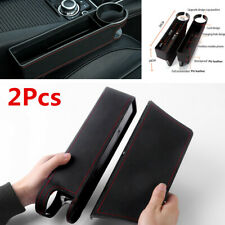 2Pcs Universal Car Seat Crevice Storage Box Drink Holder Gap Filler Accessories