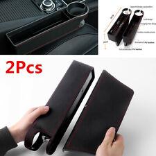 2Pcs Universal Car Seat Crevice Storage Box Drink Holder Gap Filler Accessories