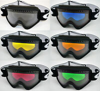 GOGGLE-SHOP DUAL VENTED TINTED LENS to fit OAKLEY O FRAME SKI SNOWBOARD GOGGLES