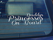 Static Cling Window Car Sign/Decal Daddys Princesses on Board 100 x 250mm