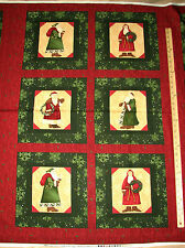 "Elegant Santa Debbie Mumm Christmas Fabric Panel 29""  #67329"