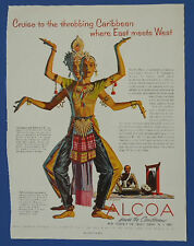 1955 Vintage Holiday Magazine Ad Alcoa Steamship Company Serving The Caribbean