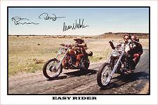 * EASY RIDER * HOPPER, FONDA, NICHOLSON SIGNED AUTOGRAPH POSTER PHOTO PRINT.