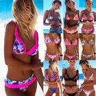 Women sexy Floral Bikini Set Push-Up Padded Swimwear Swimsuit Bathing Beachwear