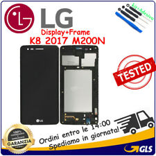 DISPLAY LCD TOUCH SCREEN + FRAME per LG OPTIMUS K8 2017 M210 MS210 M200N NERO