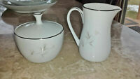 Noritake Rowena 6322 Creamer and Sugar bowl w/ lid China Dish