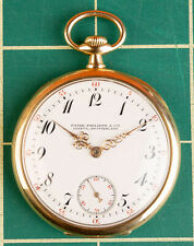 Antique Patek Philippe & Cie 18k Gold 18 Jewels Pocket Watch Fully Signed Ticks!