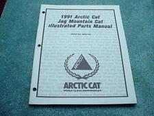 Arctic Cat 1991 Parts Manual Jag Mountain Cat Snowmobile OEM #279