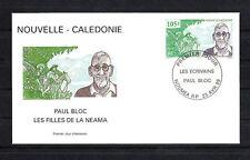Nouvelle-Calédonie   enveloppe  écrivain  paul Bloc    1999