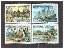 ITALIA MNH NUOVI 1992 Columbus 4v s32487 joint issue with USA