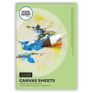 HOMEHOBBY by 3L Canvas Sheets Pad of 10 A4 100% Cotton Canvas Sheets