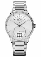 Edox Les Vauberts Silver Dial Stainless Steel Men's Watch 34006 3A AIN