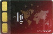 GOLD KARATBARS 3 GRAM 999.9 FINE BAR SEALED IN ASSAY CREDIT CARD LBMA ACCREDITED