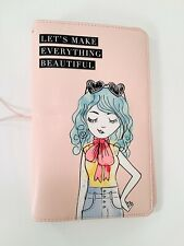 "Agenda 52 Traveler's Notebook Journal Pink ""Lets Make Everything Beautiful"""