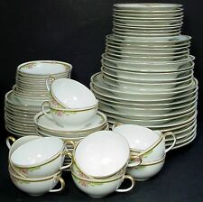 JAEGER china FERNCROFT pattern 79-pc SET SERVICE for 10 more or less