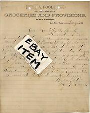 1890 Letter FLOYD COUNTY Ghost Town DELLA PLAIN TEXAS J Poole FLOYDADA LOCKNEY