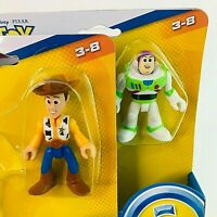 Imaginext Fisher Price Toy Story Buzz Lightyear and Woody Action Figures New
