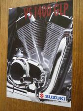 SUZUKI VS 1400 GLP MOTORBIKE BROCHURE 1995/96 - POST FREE (UK)
