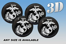 MARINES EAGLE wheel center cap decals emblems stickers 4 pcs ~ ANY SIZE ~ s/b