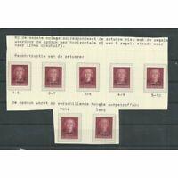 Suriname  330 hulpuitgifte met OPDRUK variaties MH of  MNH/postfris  CV 20+ €