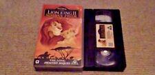 The Lion King II - Simba's Pride WALT DISNEY CLASSIC UK PAL VHS VIDEO 1999