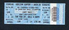 2011 Lady Gaga Concert Ticket Washington DC Born This Way Monster Ball