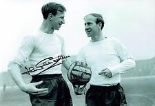 Jack CHARLTON SIGNED England Football Autograph 12x8 Photo with Bobby AFTAL COA