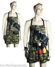 BBQ Apron Camouflage Camo Grilling Belt Pockets Tools Grill Sergeant Barbeque