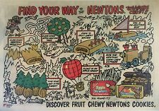1984 - APPLE AND FIG NEWTON PROMO AD - Find Your Way Treasure Chest Puzzle