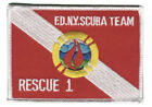 FDNY New York City Fire Department Rescue 1 Scuba Team Patch.