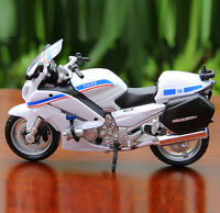 Maisto 1:18 Diecast YAMAHA FJR 1300A Police Motocycle Model Toy White&Blue