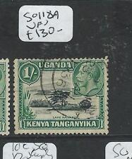 KENYA UGANDA TANGANYIKA (P2407B) KGV 1/-   SG 118A  VFU   SCARCE!