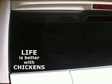 "Life Is Better Chickens Car Decal Vinyl Sticker 6""E56 Farm Animals Love Laptop"
