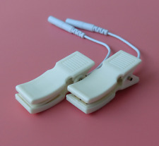 ELECTROSEX ESTIM TENS MASSAGE CABLE ATTACHMENT AND CLIPS 2x2MM PIN,UK SELLER!
