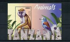 Tanzania 2004 MNH Animals 1v S/S Fauna Monkeys Baboon Birds
