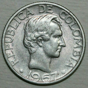 1967 Colombia 20 Centavos Copper Nickel coin Age 54 years Old is KM#227 for you.
