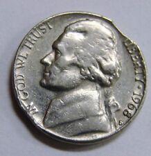 1968 S - Jefferson Nickel - Clipped - Mint Error