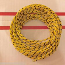 Harley Cloth Covered Yellow 16 ga Wiring Wire 25 Ft. Knucklehead Panhead