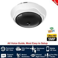 5MP Ultra Clear 360° Panoramic Fisheye IP Camera WiFi/Cat5 Wire Network PTZ View